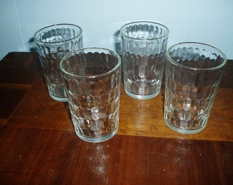 Four Vintage Snuff Glasses