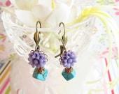 Adorable Lavender & Blue Earrings