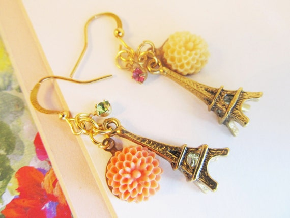 Sweet Paris- Sweet Sixteen - 24K Gold connectors Earrings