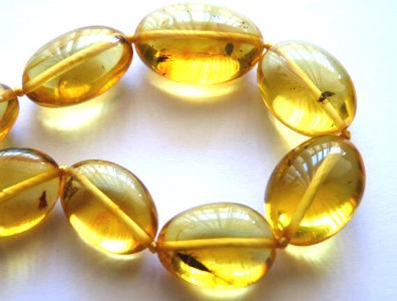 Baltic Amber Necklace with Insects Inclusions
