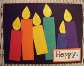 Rainbow Candles Birthday Card