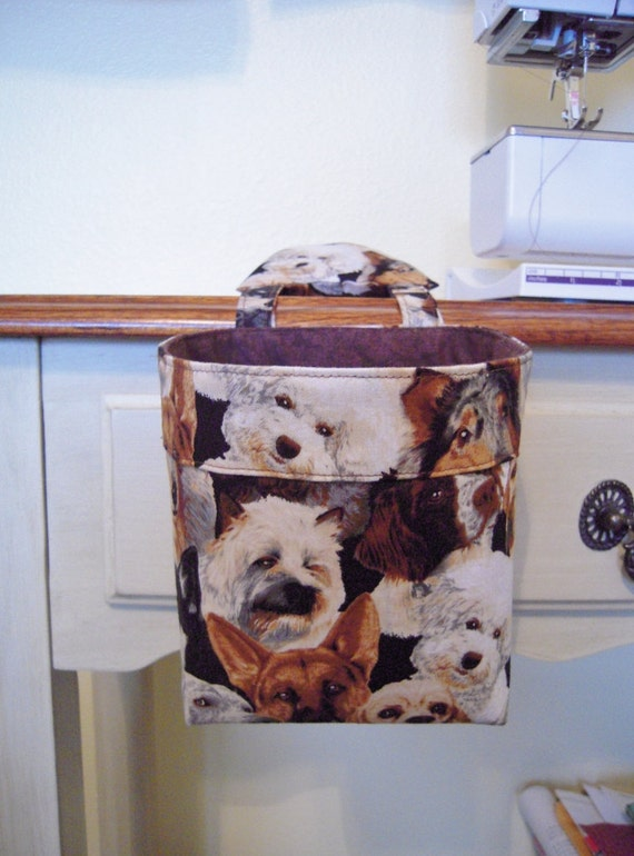Thread Catcher, Scrap Caddy, Scrap Bag, Pincushion - Dogs for the Dog Lovers