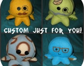 Octoplush the Custom Cute Little Octopus (Made-to-Order)