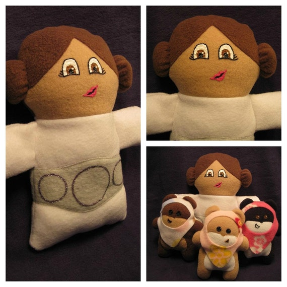 Princess Leia Inspired Custom Character Plush 10 inch (Made To Order)