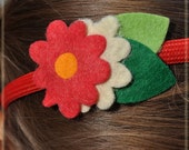 Red & Blanco Flower Headband