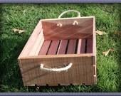 "Oklahoma Red Cedar Wood Crate - 14"" x 9.5"""