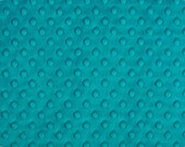 "Teal Cuddle Dimple Dot Minky by Shannon Fabrics, Fat Half (30"" x 36"")"