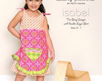 Modkid Isabel  Pattern Tie Strap Double Layer Jumper , sizes 2T-7, paper pattern