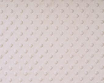 Ivory Cuddle Dimple Dot Minky by Shannon Fabrics, 1 yard