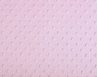"""Baby Pink Cuddle Dimple Dot Minky by Shannon Fabrics, Fat Half (30"""" x 36"""")"""