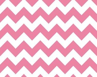 Pink Chevron fabric in Medium by Riley Blake,  1 yard Clearance Sale