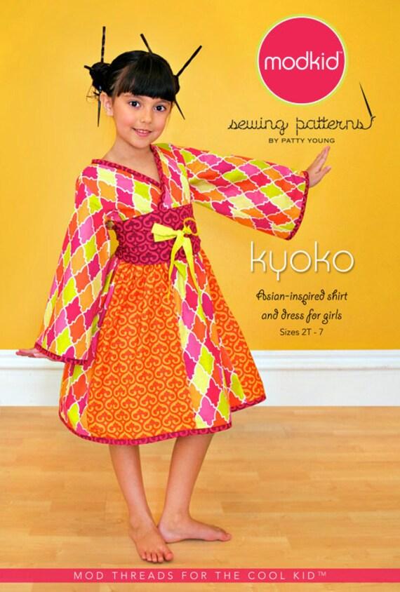 Modkid Kyoko Pattern Asian Inspired Shirt and Dress  sizes 2T-7- FREE SHIPPING