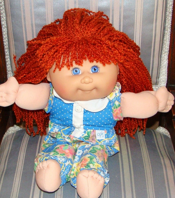 Vintage MATTEL First Edition Cabbage Patch Doll 1988 CK-47 Girl with Red Hair and Blue Eyes Original Outfit and Panties Signed