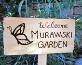 """12"""" x 6"""" Rustic Personalized Garden & Greeting Signs"""
