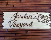 Rustic Personalized Garden & Greeting Signs, wood burned