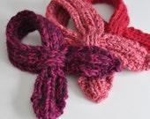 Child's Looped Scarflette Knitting Pattern