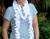 Scarf Pattern: Crochet Ruffled Summer Scarf (PDF)