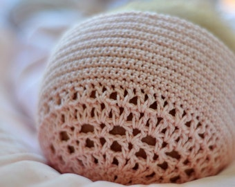 Baby Blessing Bonnet Crochet Pattern 3 months (PDF DOWNLOAD)