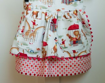 Sewing Pattern: Girls Apron Dirndl Skirt (PDF INSTANT DOWNLOAD)