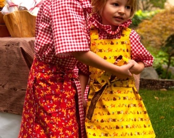 Sewing Pattern PDF: Apron Wrap Dress for Girls (INSTANT DOWNLOAD)