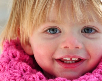 Child's Crochet Pattern: Sedge Stitch Cowl (PDF DOWNLOAD)