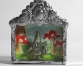 Wee One, Dancing Gnome Diorama Necklace Reserved for Marvelous Marlo