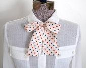 Vintage OSCAR de la RENTA Silk Polka Dot Necktie or Head Wrap