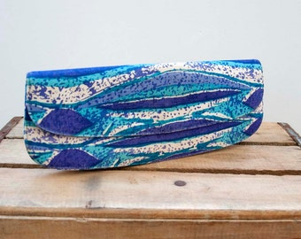 50s 60s Vintage Batik Canvas Vintage Clutch