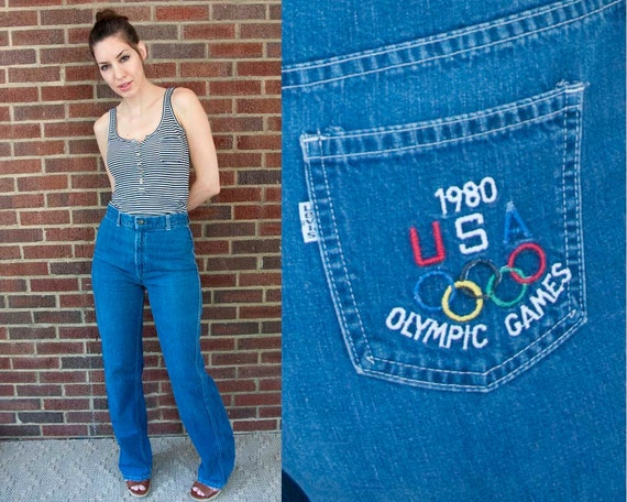 1980 Vintage LEVIS Olympic Games USA Jeans (S)