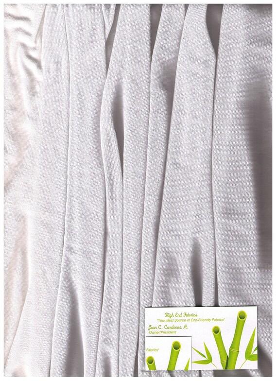Hemp Cotton Light Sweater Knit Fabric All Seasons  White Eco-Friendly 10 yards