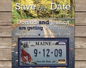 110 Postcard and License Plate Magnet Save the Dates - Custom Listing for Patricia Griffin