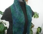 Ocean silk and wool scarf