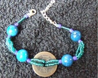 Water I ching Beaded Bracelet