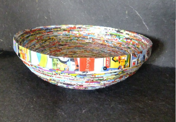 Recycled Tesco Catalogue Kids section Bowl