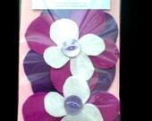 Flower Hair Clips Purple Girls Handmade Felt Accessories Clips Gift Birthday Present Party