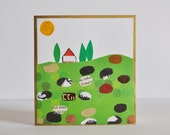 Greeting card- Hand crafted greeting card made of recycled paper
