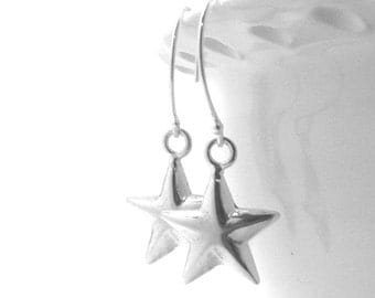 Star Earrings, Star Jewelry, Stars, Star Dangle Earrings, Sterling Silver Jewelry