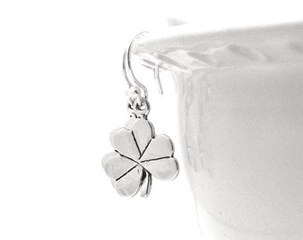 Shamrock Earrings, Clover Earrings, Shamrock Jewelry, Clover Jewelry, Sterling Silver Jewelry, Sterling Silver Shamrock Earrings