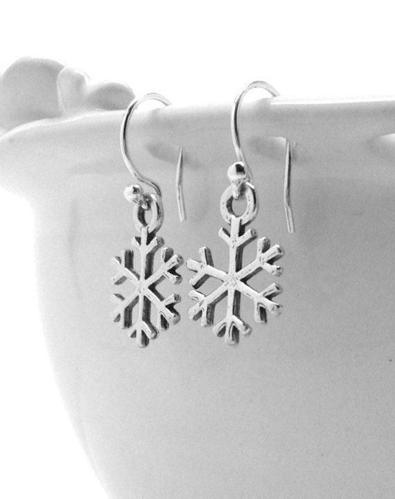 Snowflake Earrings, Sterling Silver Jewelry, Snowflakes, Snowflake Jewelry, Snowflake, Snow, Sterling Silver Snowflake Earrings