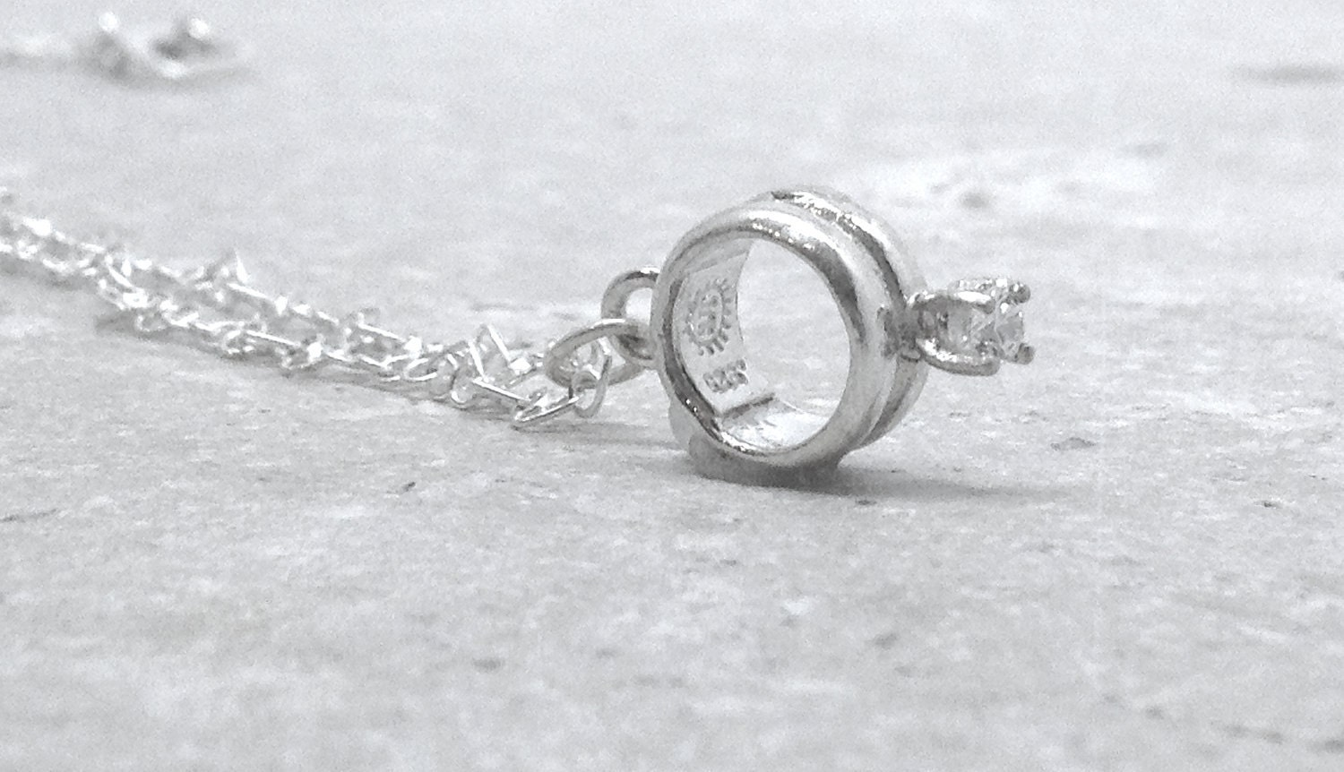 promise ring necklace sterling silver jewelry by