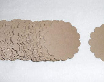 2 Inch scalloped circles