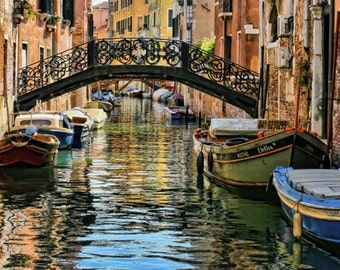 Italy photography - Venice - Bridge of Sighs - Fine art travel photography - blue, green, terracotta