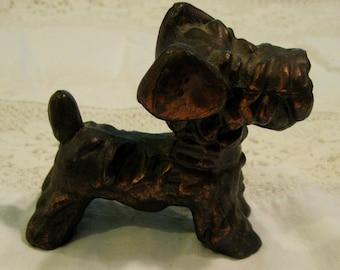 Brass Copper SCOTTIE DOG Statue Figurine Collectible