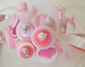 Pink Baby Button Bouquet It's a girl