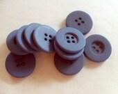 Blue Buttons, Round, Vintage, Destash
