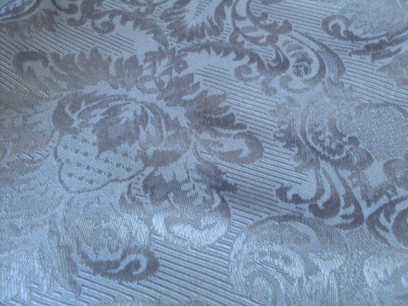 Blue Damask Upholstery Fabric Destash
