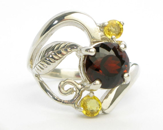 Tourmaline Ring with Yellow Sapphires