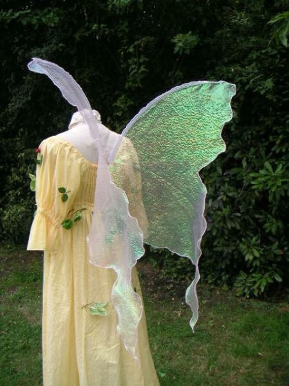 Pink Opal Fairy Wings Costume Adult L Dress Up Goddess Wicca
