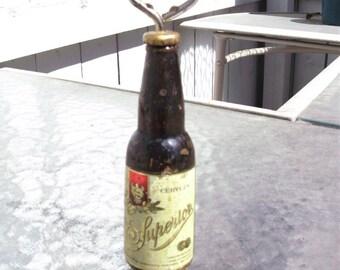 Old Superior Cerveza Beer Bottle Opener Mexico