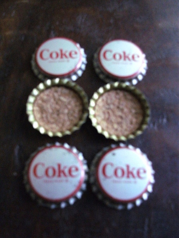 Vintage Unused Coke Bottle Tops with Corks